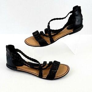 b.o.c. Strappy Black cushy comfort sandal size 10